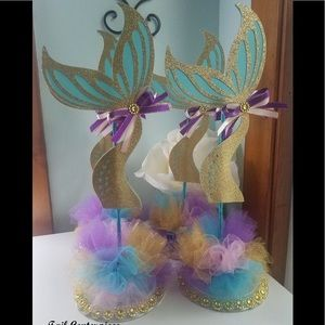 Set of 4 Mermaid Birthday Deco